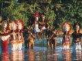Mariage traditionnel au Tiki Théâtre Village à Moorea